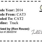 USA Cycling License Upgrade